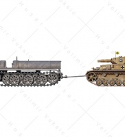 Sd.Kfz. 9 (Famo) and Panzer IV